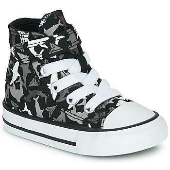 Shoes Boy High top trainers Converse CHUCK TAYLOR ALL STAR 1V SHARK BITE Black / Multi