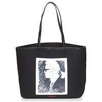 Bags Shopper bags Karl Lagerfeld KARL LEGEND CANVAS TOTE Black