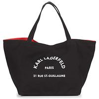 Bags Women Shopper bags Karl Lagerfeld RUE ST GUILLAUE CANVAS TOTE Black
