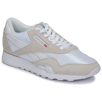 Shoes Low top trainers Reebok Classic CL NYLON White / Beige