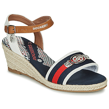 Shoes Women Sandals Dockers by Gerli 36IS214-506 Blue / White / Red