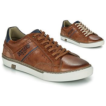 Shoes Men Low top trainers Dockers by Gerli 46CM002-440 Cognac