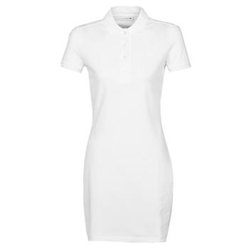 material Women Short Dresses Lacoste EUGENIE White