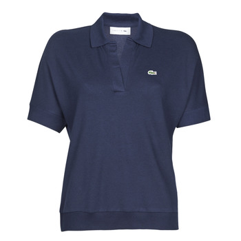 material Women short-sleeved polo shirts Lacoste FABIAN Marine
