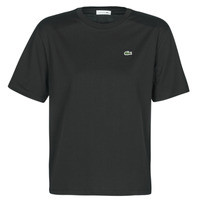 material Women short-sleeved t-shirts Lacoste BERNARD Black