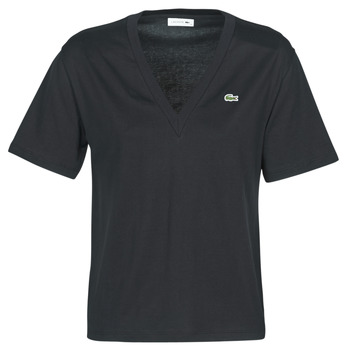 material Women short-sleeved t-shirts Lacoste ELVIRA Black