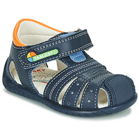 Shoes Boy Sandals Pablosky  Marine / Orange
