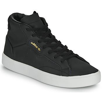 Shoes Women High top trainers adidas Originals adidas SLEEK MID W Black