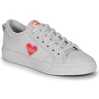Shoes Women Low top trainers adidas Originals NIZZA TREFOIL W White