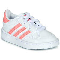 Shoes Girl Low top trainers adidas Originals NOVICE EL I White / Pink