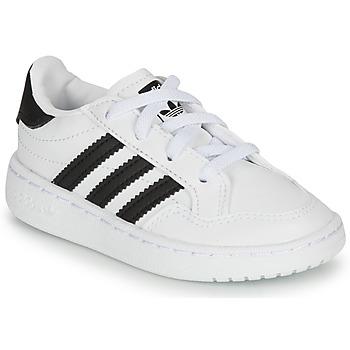 Shoes Children Low top trainers adidas Originals NOVICE EL I White / Black