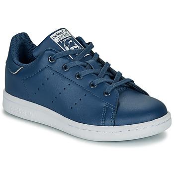 Shoes Boy Low top trainers adidas Originals STAN SMITH C Blue