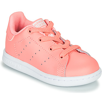 Shoes Girl Low top trainers adidas Originals STAN SMITH EL I Pink