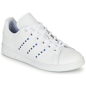 Shoes Children Low top trainers adidas Originals STAN SMITH J White / Blue