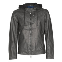material Men Leather jackets / Imitation le Guess VINTAGE ECO-LEATHER JKT Black