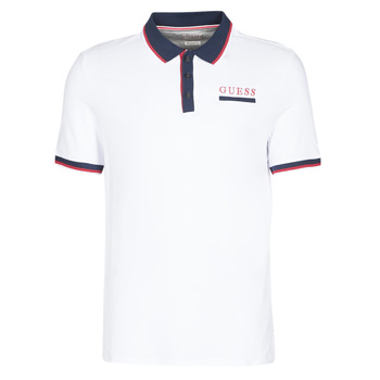 material Men short-sleeved polo shirts Guess LES SS POLO White