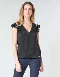 material Women Blouses Guess SS DAHAB TOP Black