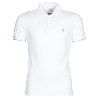 material Men short-sleeved polo shirts Guess AMIAS SS POLO White