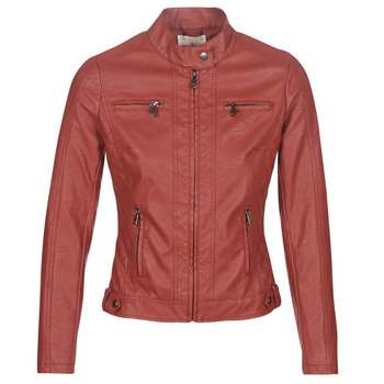 material Women Leather jackets / Imitation le Moony Mood AW075-ROUGE Red