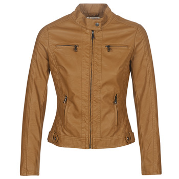 material Women Leather jackets / Imitation le Moony Mood PUIR Camel