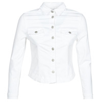 material Women Denim jackets Le Temps des Cerises LILLY White