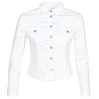material Women Denim jackets Le Temps des Cerises LILLY White