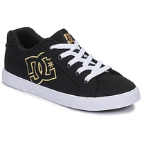 Shoes Women Low top trainers DC Shoes CHELSEA TX Black / Gold