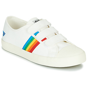 Shoes Women Low top trainers Gola COASTER RAINBOW VELCRO White