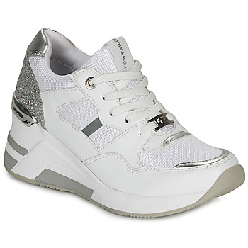 Shoes Women Low top trainers Tom Tailor  White / Silver