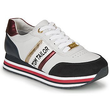 Shoes Women Low top trainers Tom Tailor 8095504 White / Blue / Red