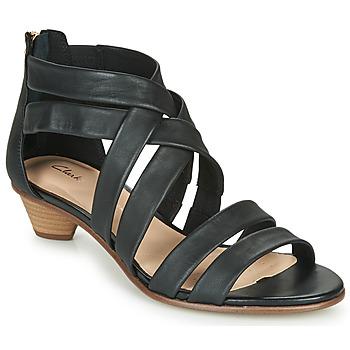 Shoes Women Sandals Clarks MENA SILK Black