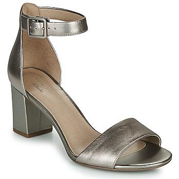 Shoes Women Sandals Clarks DEVA MAE Silver