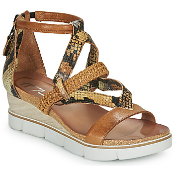 Shoes Women Sandals Mjus TAPASITA Brown / Python