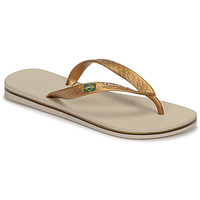 Shoes Women Flip flops Ipanema CLAS BRASIL II Beige / Gold