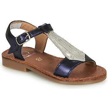 Shoes Girl Sandals Shoo Pom HAPPY TIE Blue / Silver