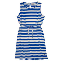 material Girl Short Dresses Deeluxe STRIPSTIME White / Blue