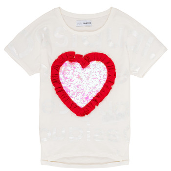 material Girl short-sleeved t-shirts Desigual NORTHAMPTON White