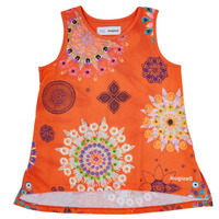 material Girl Tops / Sleeveless T-shirts Desigual TULANCINGO Orange