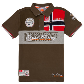 material Boy short-sleeved polo shirts Geographical Norway KIDNEY Kaki