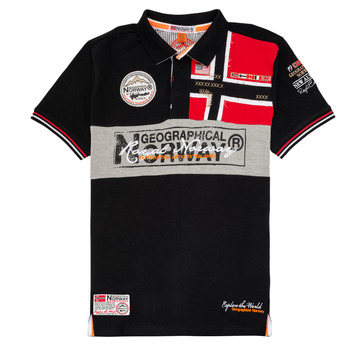 material Boy short-sleeved polo shirts Geographical Norway KIDNEY Black