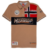 material Boy short-sleeved polo shirts Geographical Norway KIDNEY Beige