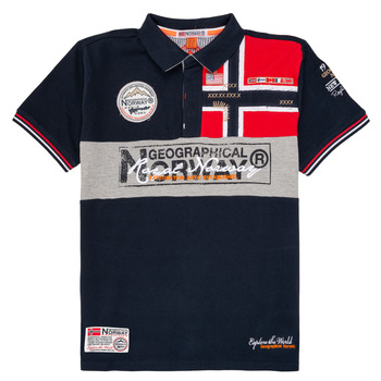 material Boy short-sleeved polo shirts Geographical Norway KIDNEY Marine