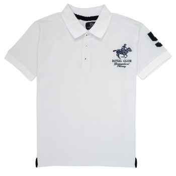 material Boy short-sleeved polo shirts Geographical Norway KAMPAI White