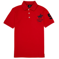 material Boy short-sleeved polo shirts Geographical Norway KAMPAI Red