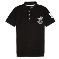 material Boy short-sleeved polo shirts Geographical Norway KAMPAI Black