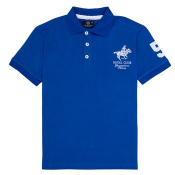 material Boy short-sleeved polo shirts Geographical Norway KAMPAI Blue