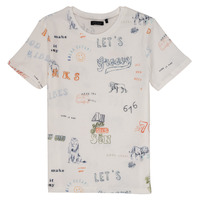 material Boy short-sleeved t-shirts Ikks LAURENE White