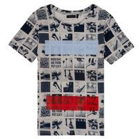 material Boy short-sleeved t-shirts Ikks JULIEN Beige