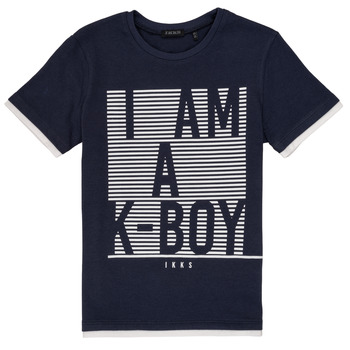 material Boy short-sleeved t-shirts Ikks AURELE Marine