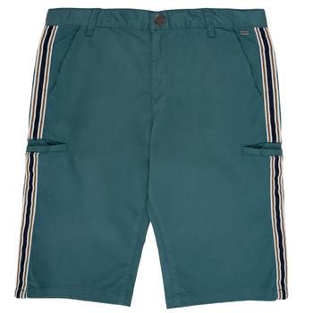 material Boy Shorts / Bermudas Ikks MANUEL Blue / Green
